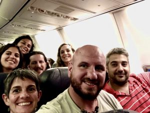 periodistas turismo-vuelo inaugural Florianopolis Flybondi